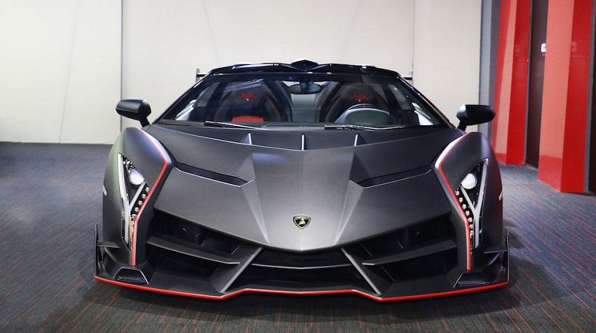 Lamborghini Veneno Roadster hàng hiếm với thiết kế thân xe làm bằng sợi carbon trần - 1