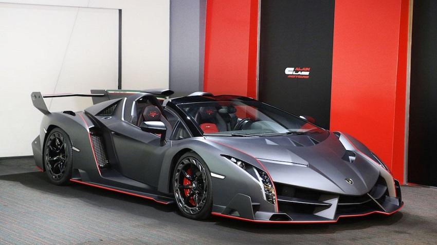 Lamborghini Veneno Roadster hàng hiếm với thiết kế thân xe làm bằng sợi carbon trần - 3