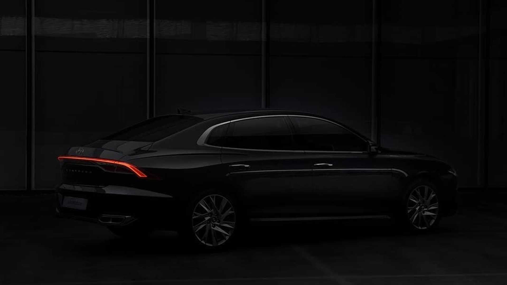 Sedan Hyundai Grandeur Facelift 2020 thiết kế cụm đèn pha bên trong lưới tản nhiệt phía trước - 4