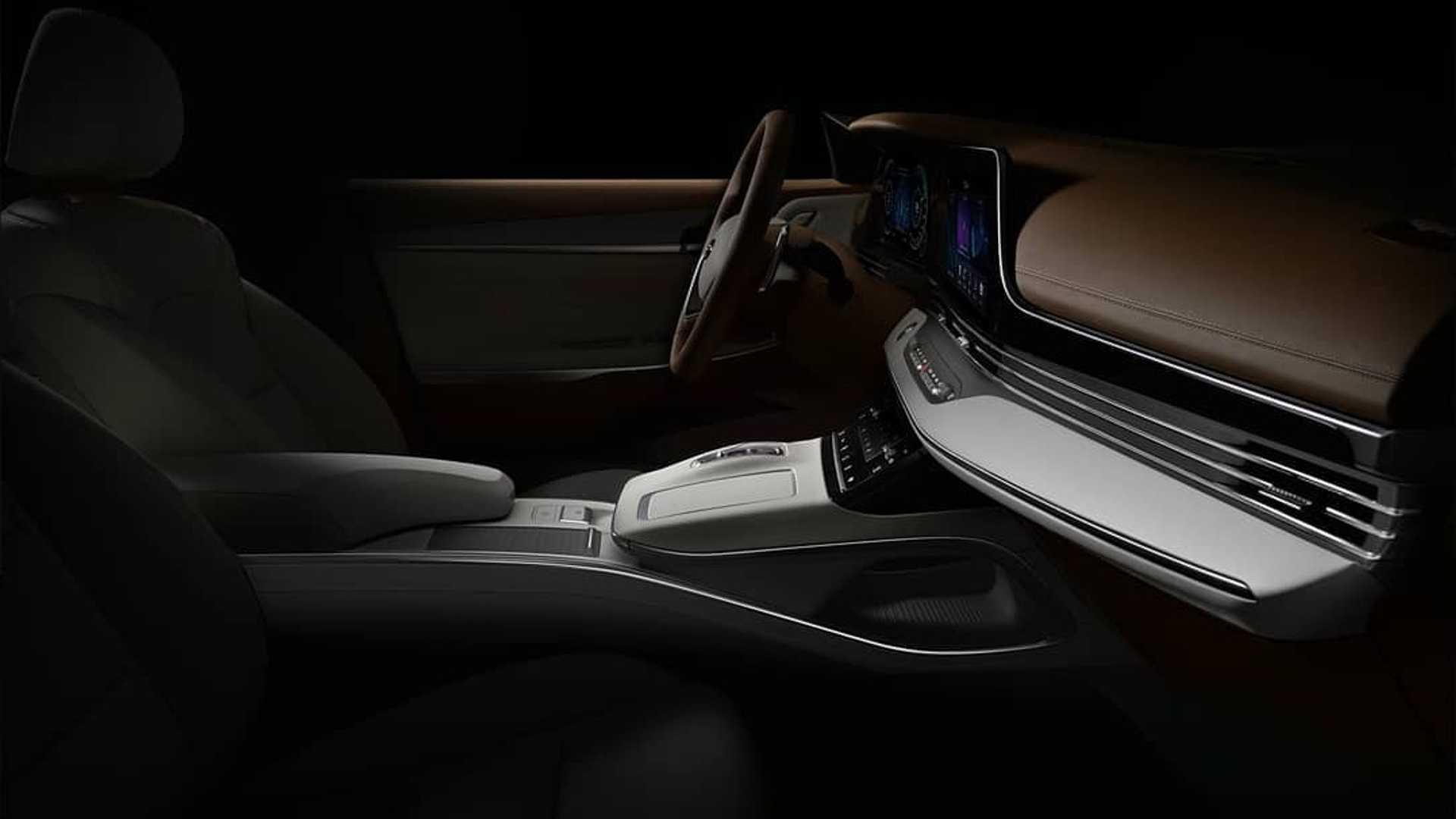 Sedan Hyundai Grandeur Facelift 2020 thiết kế cụm đèn pha bên trong lưới tản nhiệt phía trước - 2