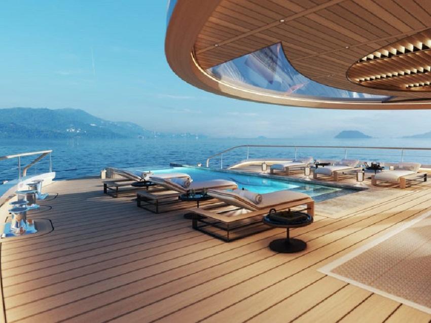 Siêu du thuyền chạy bằng hydro đầu tiên trên thế giới đã ra mắt tại Triển lãm Du thuyền Monaco - 5