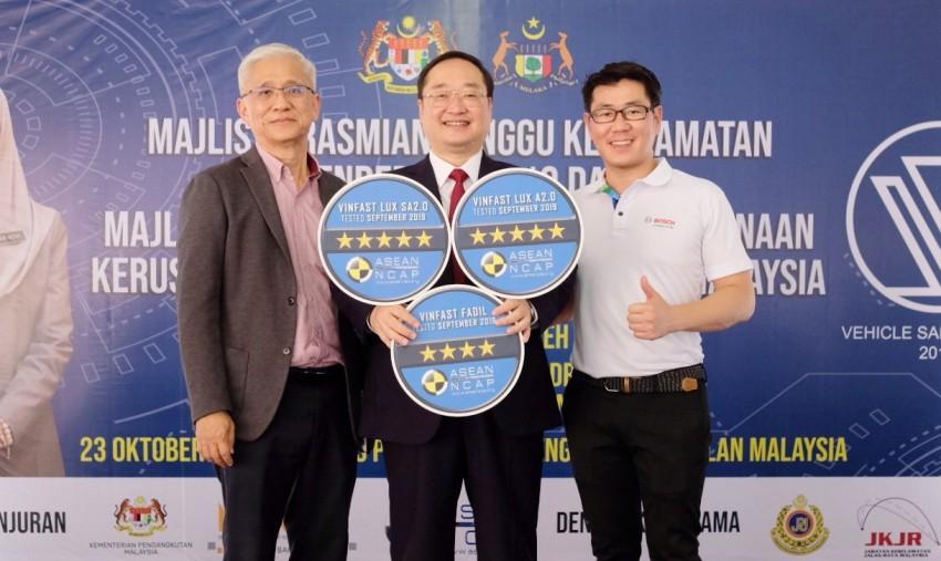 Xe VinFast Lux đạt chứng nhận ASEAN NCAP