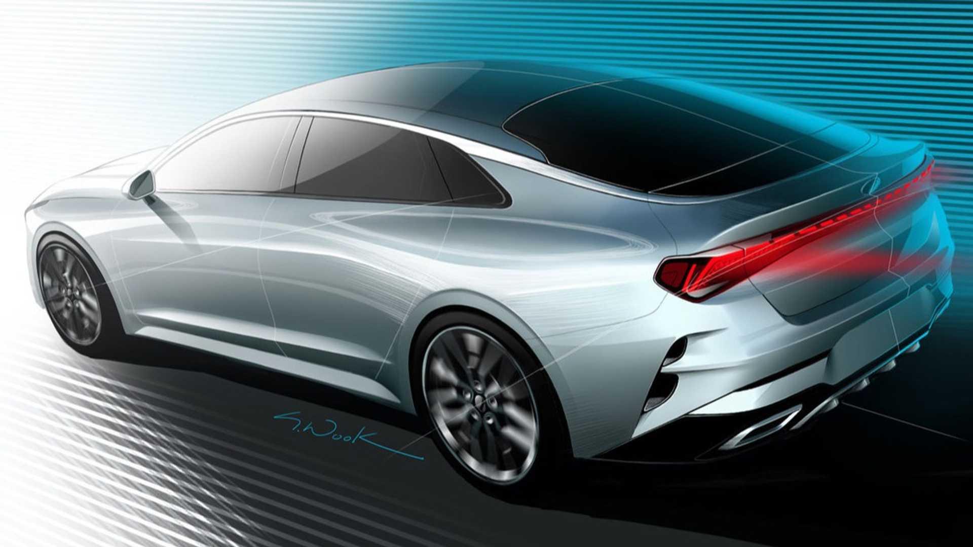 Kia Optima 2021 lộ diện với thiết kế thể thao - 1