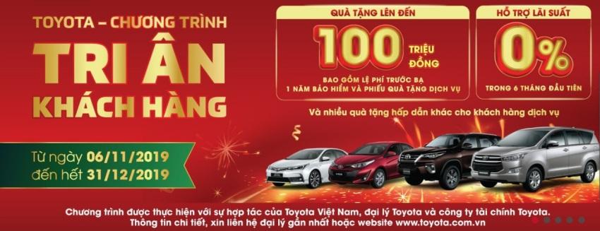 Ưu đãi khách hàng mua xe Toyota