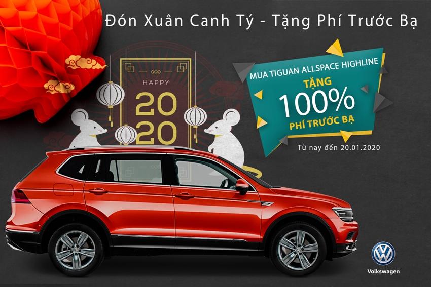 Volkswagen tặng phí trước bạ xe Tiguan