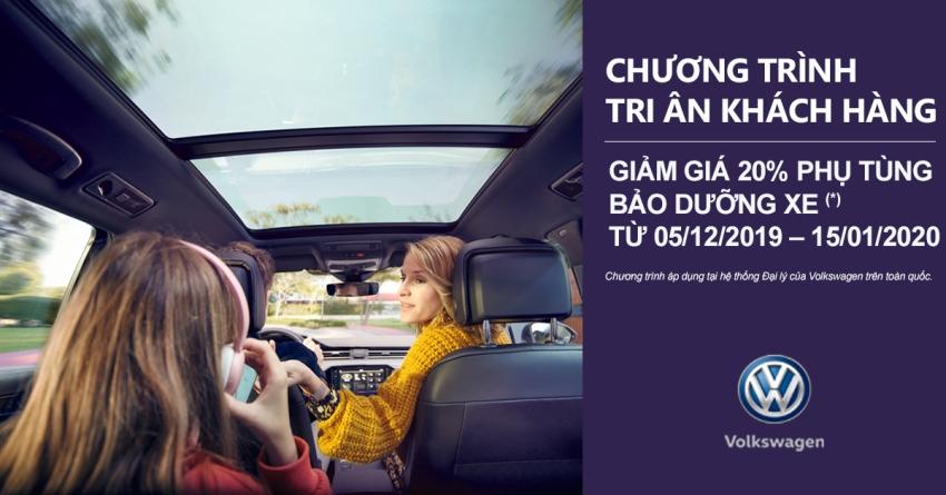 Cuối năm, Volkswagen Việt Nam giảm 20% giá phụ tùng bảo dưỡng cho khách hàng - 1