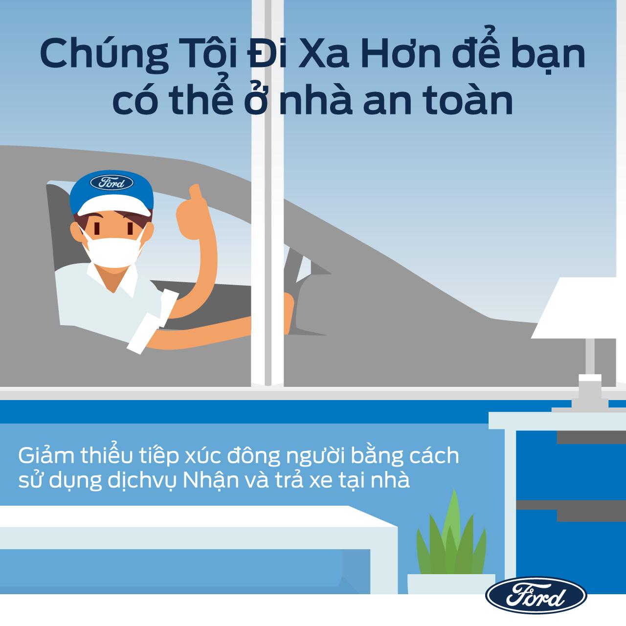 Ford Việt Nam triển khai các dịch vụ hỗ trợ khách hàng an toàn, hiệu quả và thuận tiện trong mùa dịch - 2