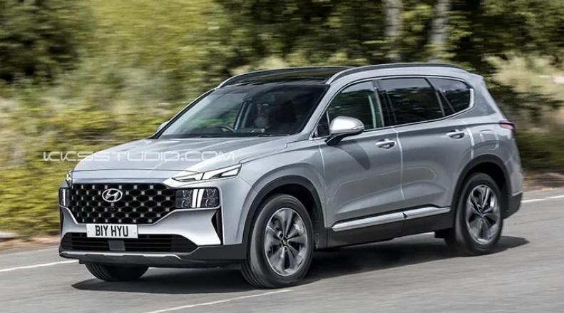 Hyundai SantaFe 2021 lộ thiết kế mới hấp dẫn hơn - 2