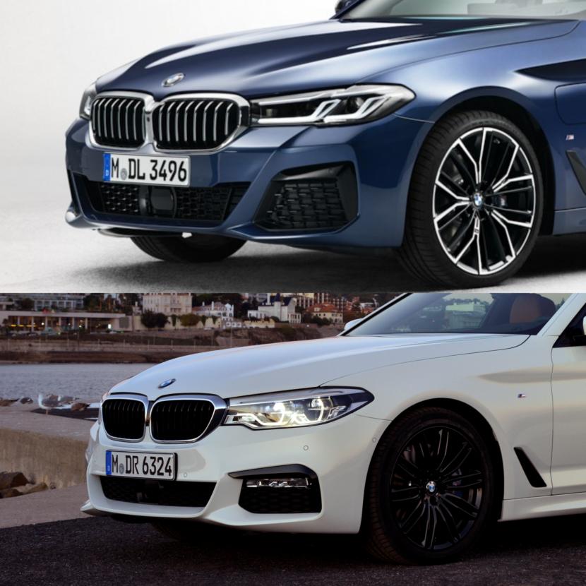 BMW 5 Series 2021 so sánh với thế hệ hiện tại.