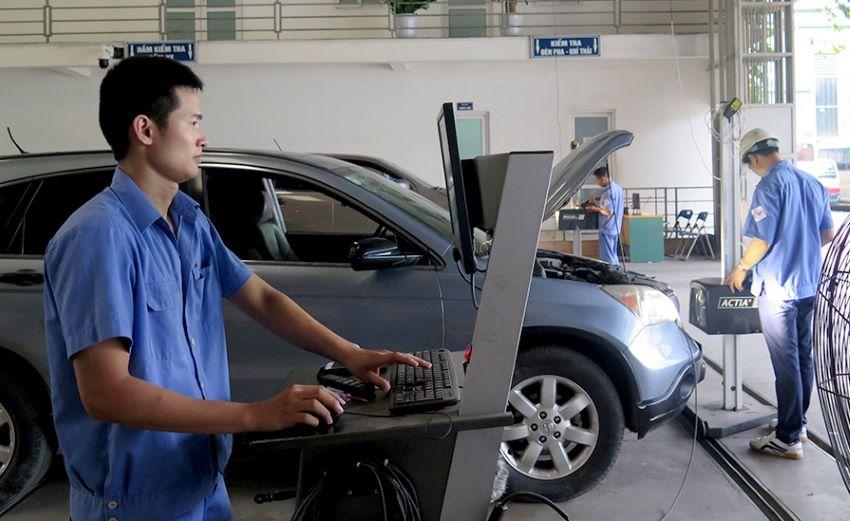 Đăng kiểm ôtô Tết