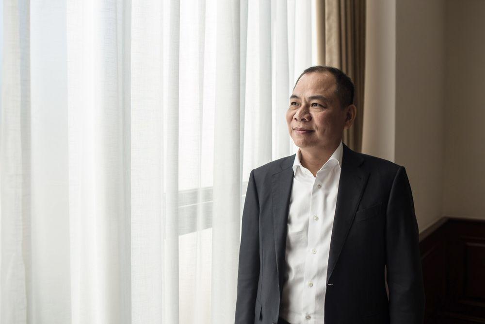 Chủ tịch Tập đoàn Vingroup, Ông Phạm Nhật Vượng. Ảnh: Yen Duong/Bloomberg