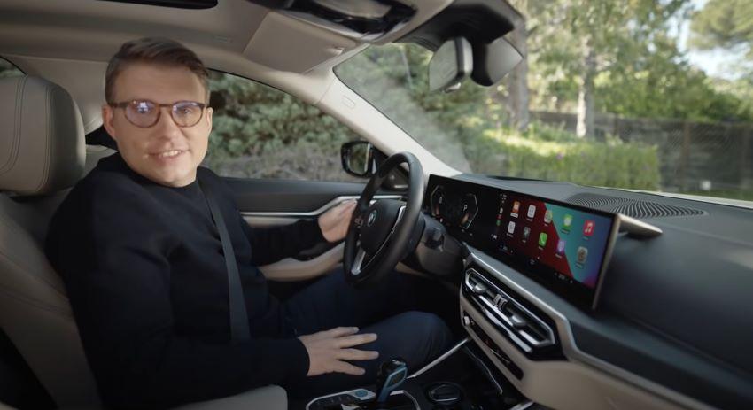 BMW i4 Apple CarPlay